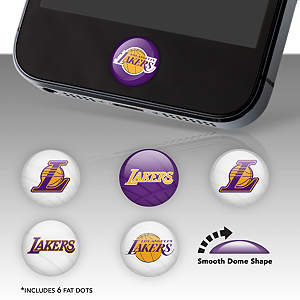 Los Angeles Lakers Fat Dots Stickers
