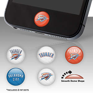 Oklahoma City Thunder Fat Dots Stickers