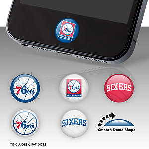 Philadelphia 76ers Fat Dots Stickers