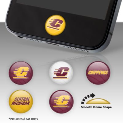 Central Michigan Chippewas Fat Dots Stickers