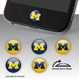 Michigan Wolverines Fat Dots Stickers