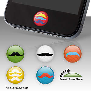 Moustaches Fat Dots Stickers