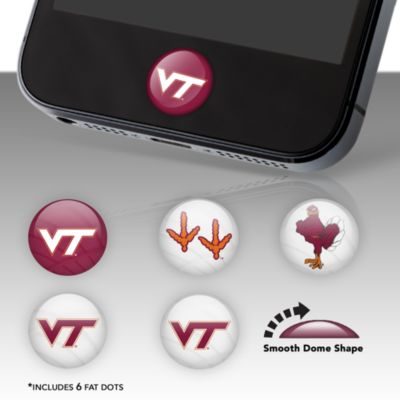 Virginia Tech Hokies Fat Dots Stickers