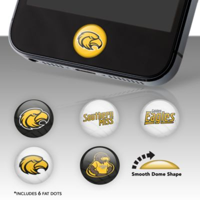 Southern Miss Golden Eagles Fat Dots Stickers