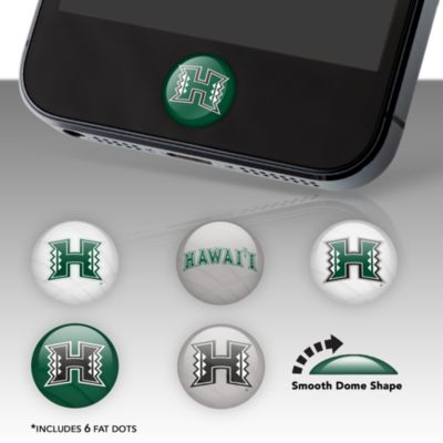 Hawaii Warriors Fat Dots Stickers