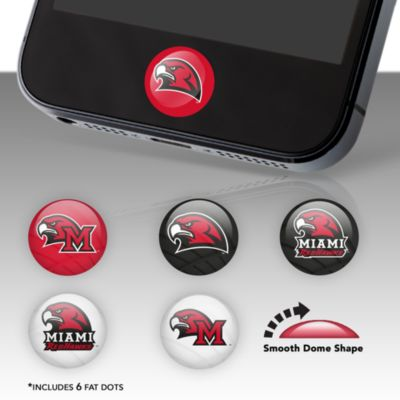 Miami Redhawks Fat Dots Stickers