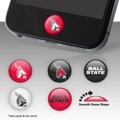 Ball State Cardinals Fat Dots Stickers