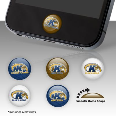Kent State Golden Flashes Fat Dots Stickers