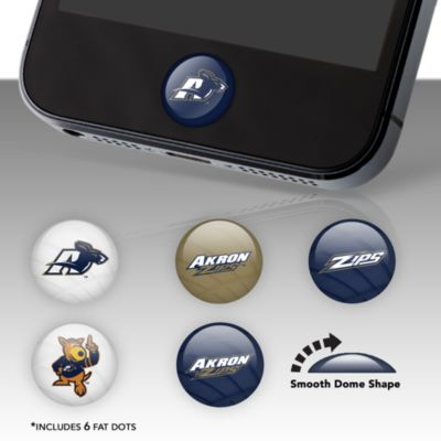 Akron Zips Fat Dots Stickers