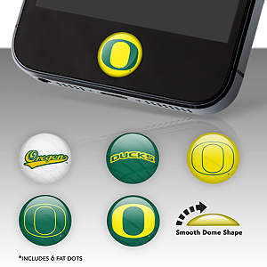Oregon Ducks Fat Dots Stickers
