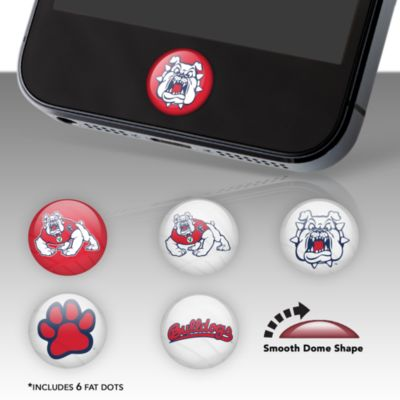 Fresno State Bulldogs Fat Dots Stickers