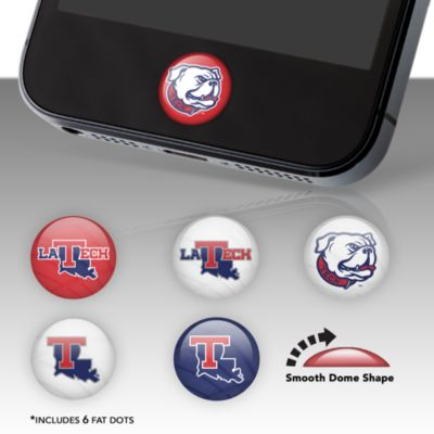 Louisiana Tech Bulldogs Fat Dots Stickers