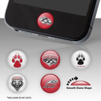 New Mexico Lobos Fat Dots Stickers
