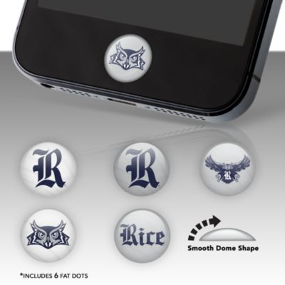 Rice Owls Fat Dots Stickers