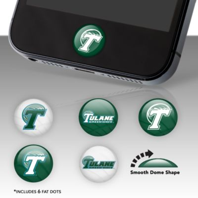 Tulane Green Wave Fat Dots Stickers