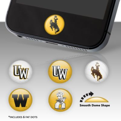 Wyoming Cowboys Fat Dots Stickers