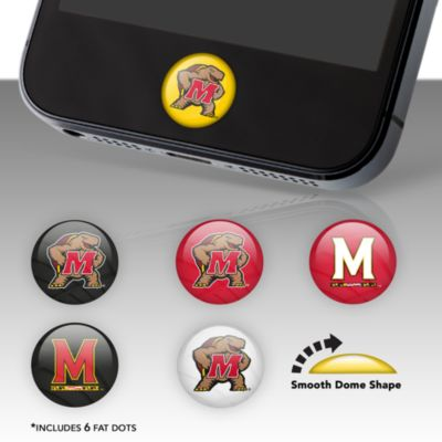 Maryland Terrapins Fat Dots Stickers