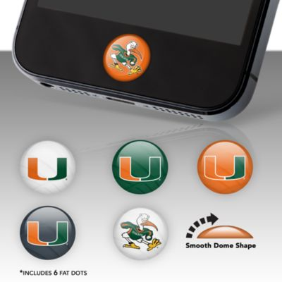 Miami Hurricanes Fat Dots Stickers