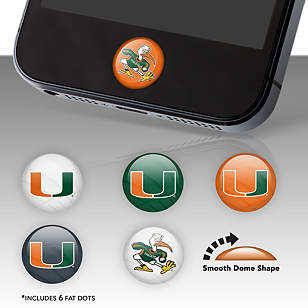 Miami Hurricanes Fat Dots