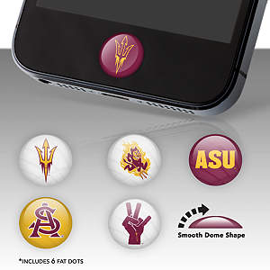 Arizona State Sun Devils Fat Dots Stickers