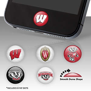 Wisconsin Badgers Fat Dots Stickers