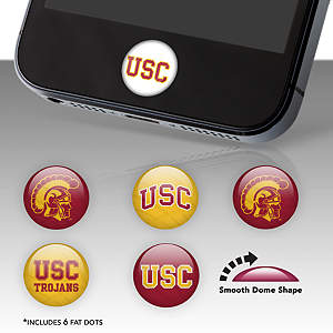 USC Trojans Fat Dots Stickers