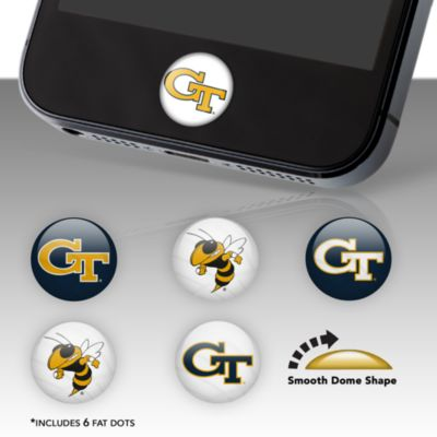 Georgia Tech Yellow Jackets Fat Dots Stickers
