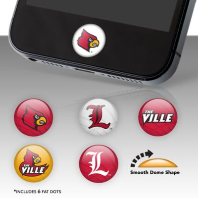 Louisville Cardinals Fat Dots Stickers