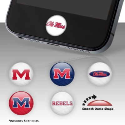 Ole Miss Rebels Fat Dots Stickers