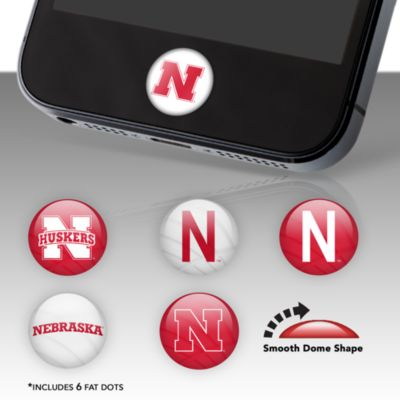 Nebraska Cornhuskers Fat Dots Stickers