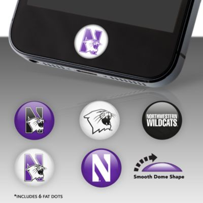 Northwestern Wildcats Fat Dots Stickers