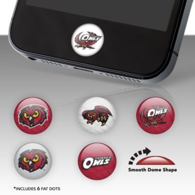 Temple Owls Fat Dots Stickers