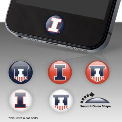 Illinois Fighting Illini Fat Dots Stickers