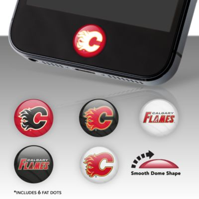 Calgary Flames Fat Dots Stickers