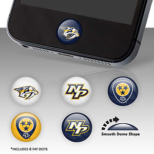 Nashville Predators Fat Dots Stickers