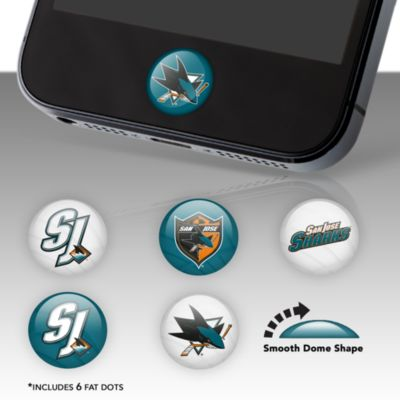 San Jose Sharks Fat Dots Stickers