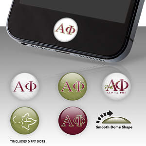 Alpha Phi Fat Dots Stickers
