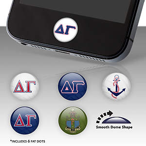 Delta Gamma Fat Dots Stickers
