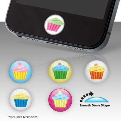 Cupcakes Fat Dots Stickers