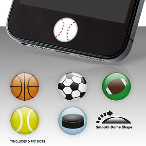 Sports Balls Fat Dots Stickers