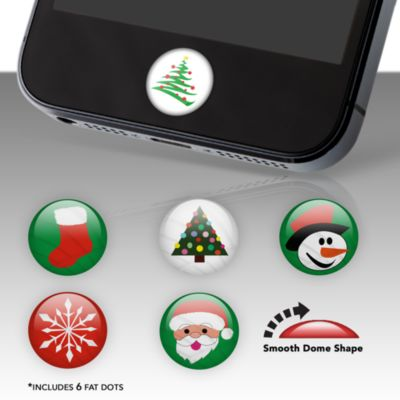 Christmas Fat Dots Stickers
