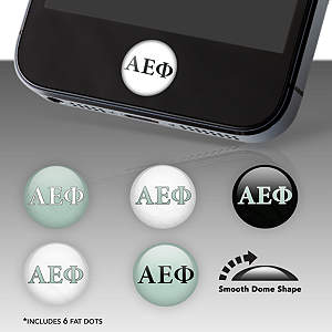 Alpha Epsilon Phi Fat Dots Stickers