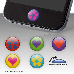 Hearts and Flowers Fat Dots Stickers