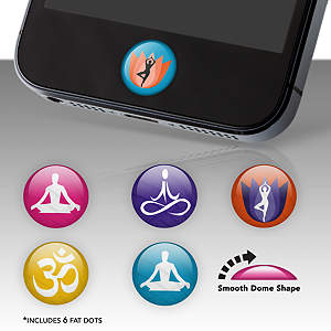 Yoga Fat Dots Stickers