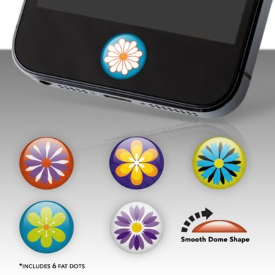 Flowers Fat Dots Stickers