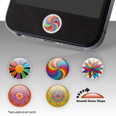 Color Burst Fat Dots Stickers