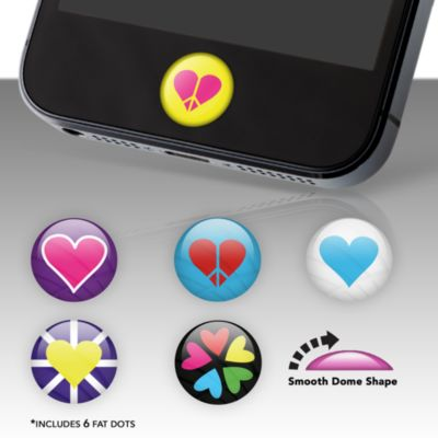 Hearts Fat Dots Stickers