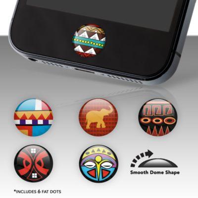 Tribal Print Fat Dots Stickers