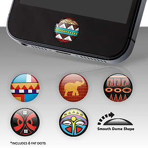 Tribal Print Fat Dots Stickers