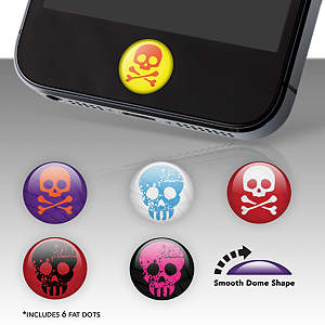 Skulls Fat Dots Stickers